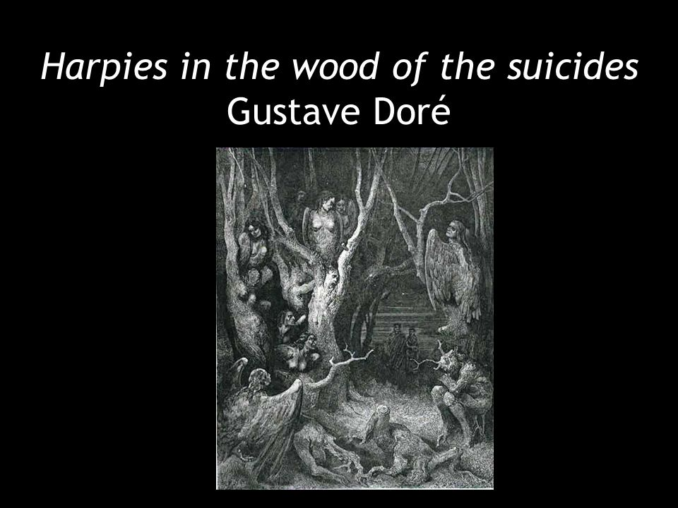 Harpies in the wood of the suicides Gustave Doré