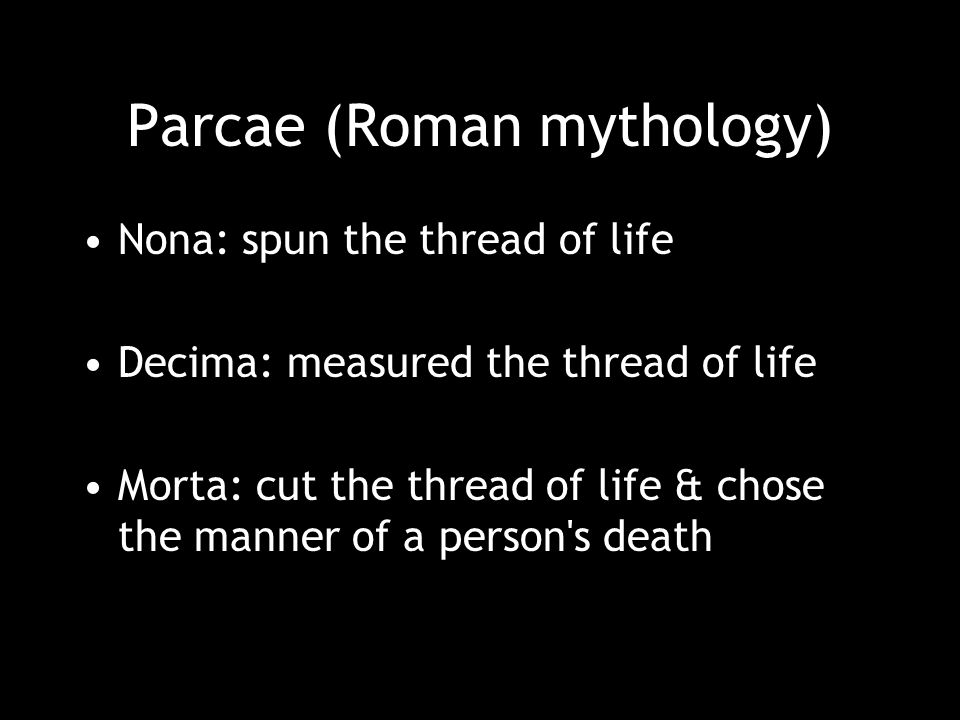 Parcae (Roman mythology)