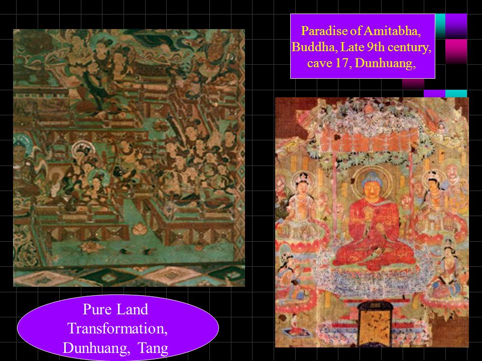 Pure Land Transformation, Dunhuang, Tang Paradise of Amitabha,