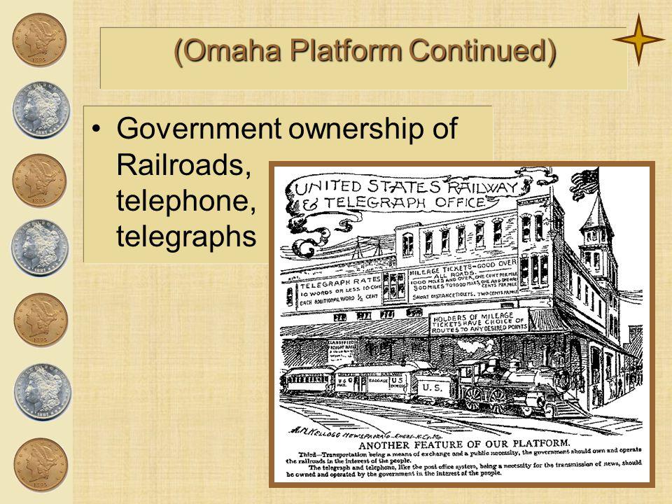 (Omaha Platform Continued)
