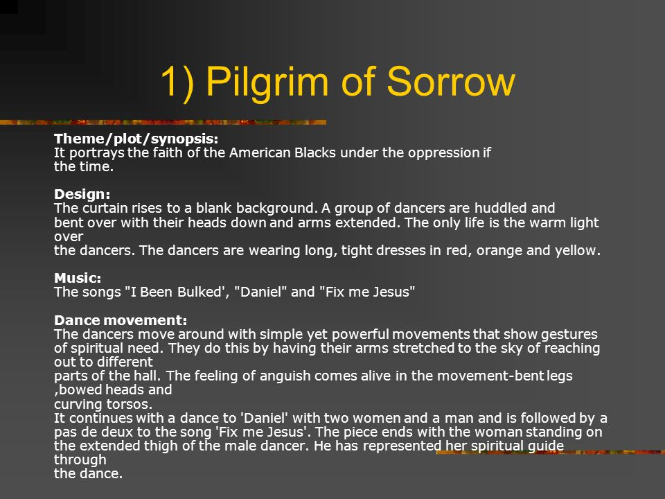1) Pilgrim of Sorrow