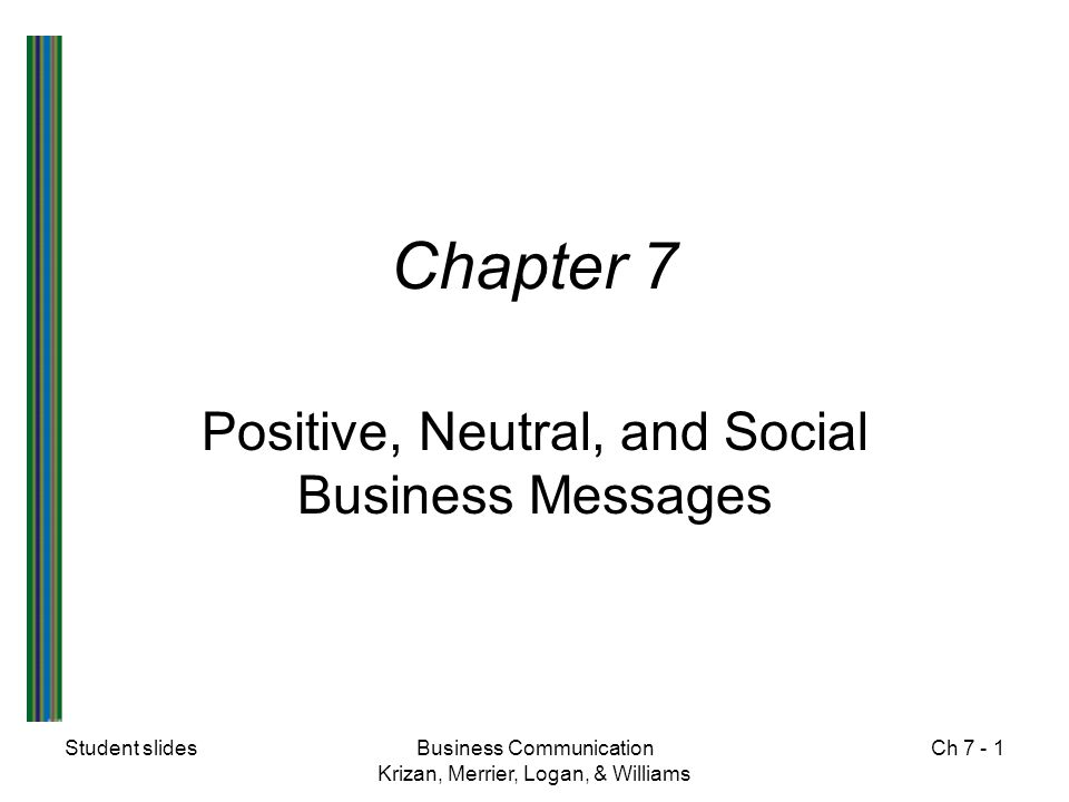 Positive, Neutral, and Social Business Messages