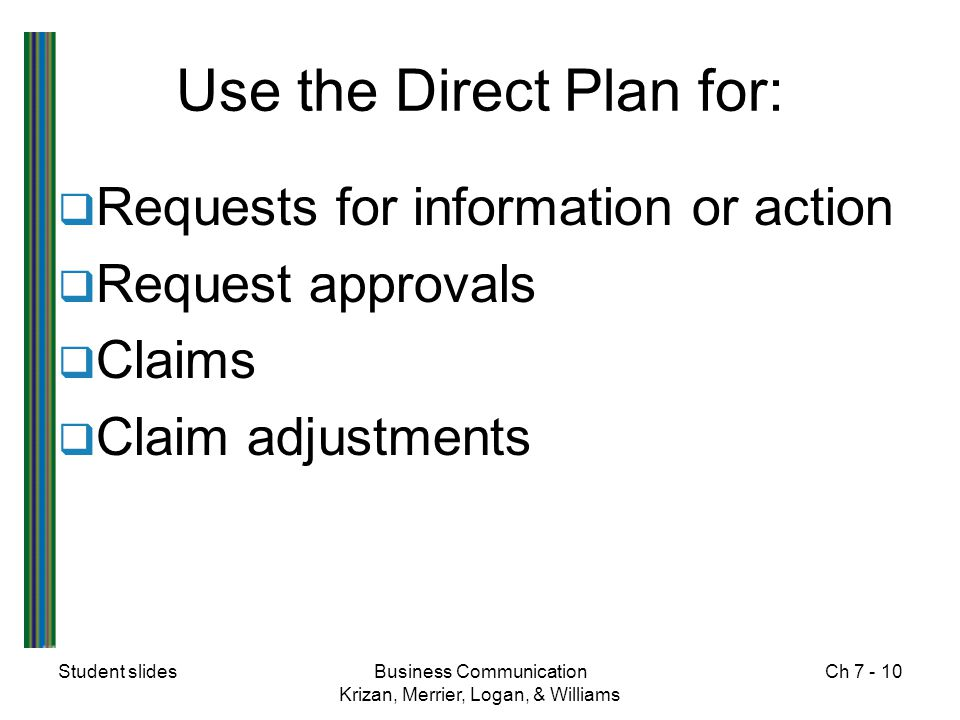 Use the Direct Plan for: