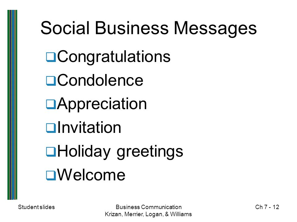 Social Business Messages