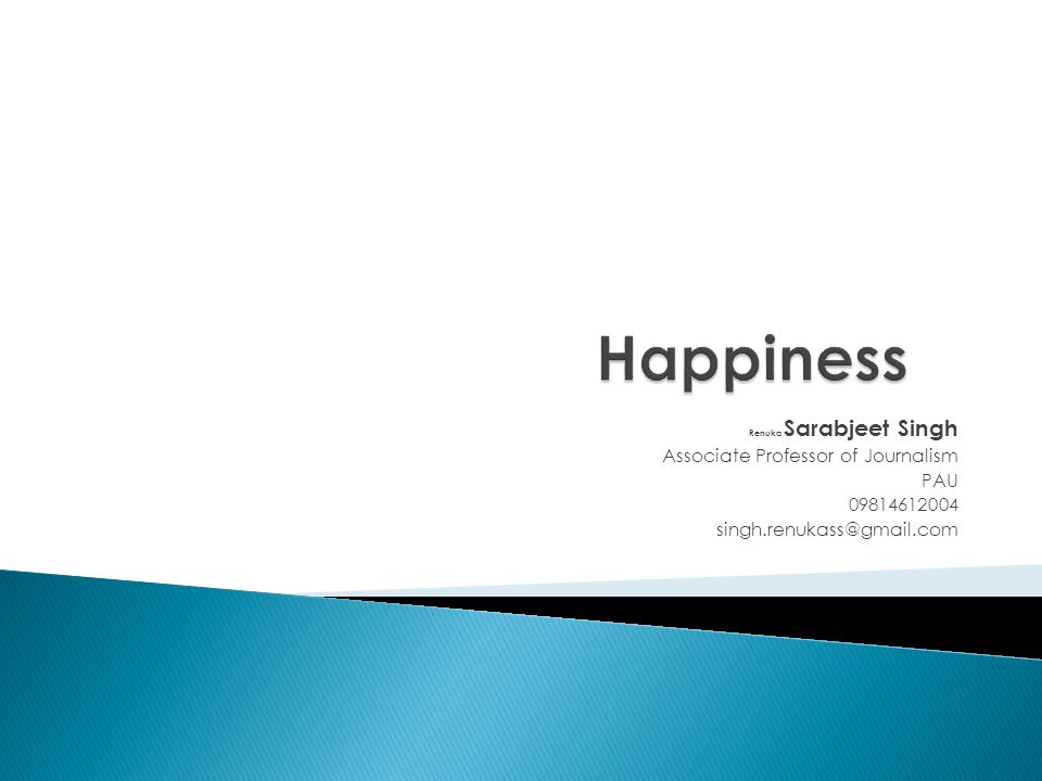 Happiness Associate Professor of Journalism PAU 09814612004