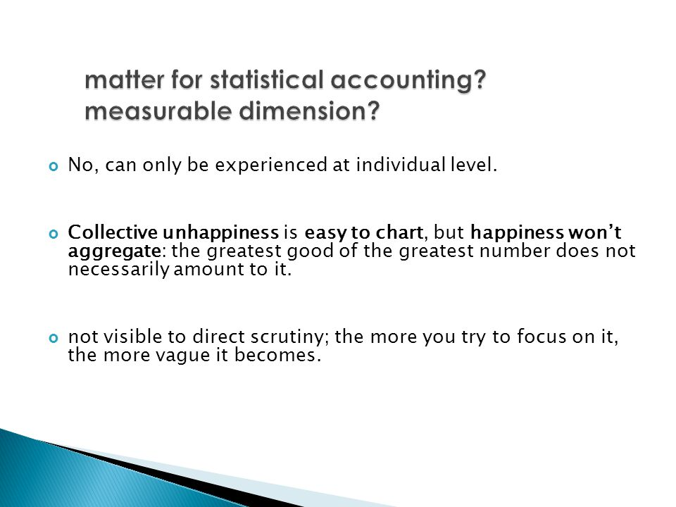 matter for statistical accounting measurable dimension