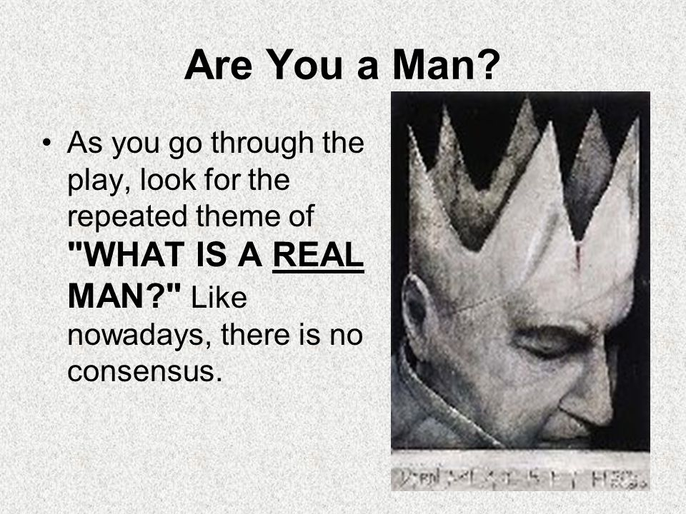 Are You a Man.