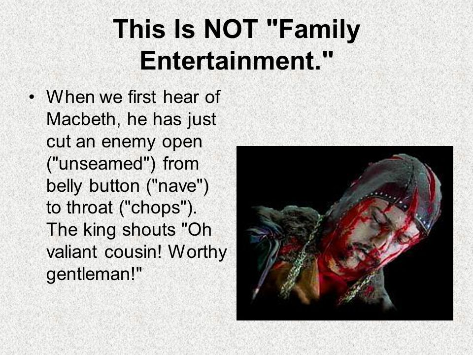This Is NOT Family Entertainment.