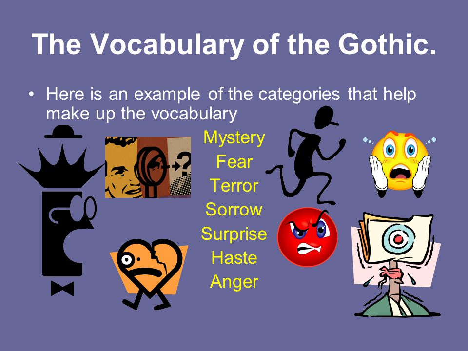 The Vocabulary of the Gothic.