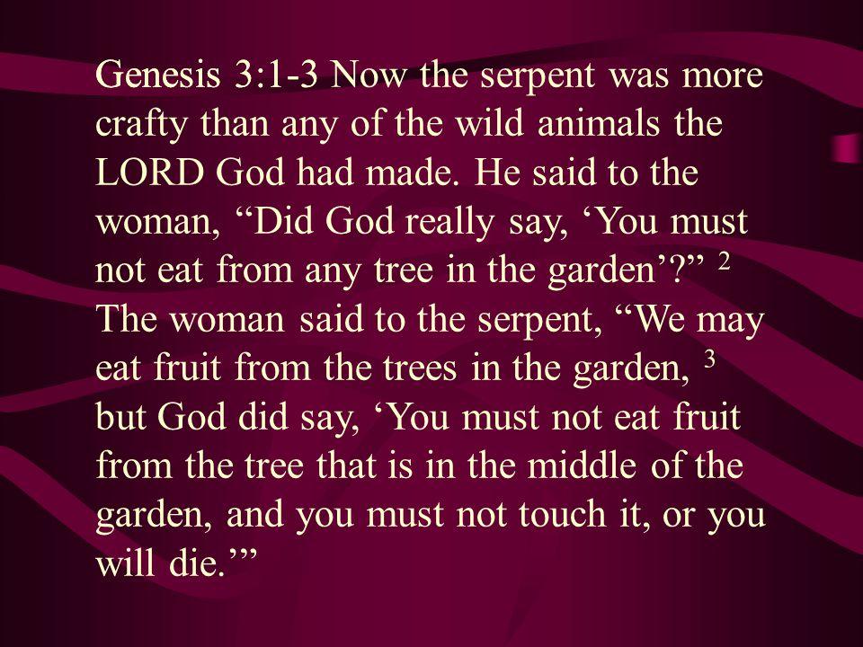 Genesis 3:1-3