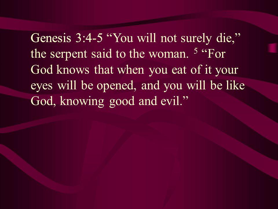 Genesis 3:4-5