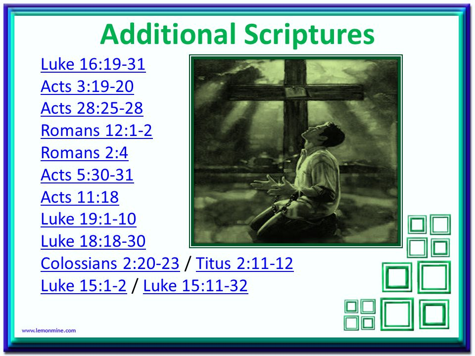 Additional Scriptures
