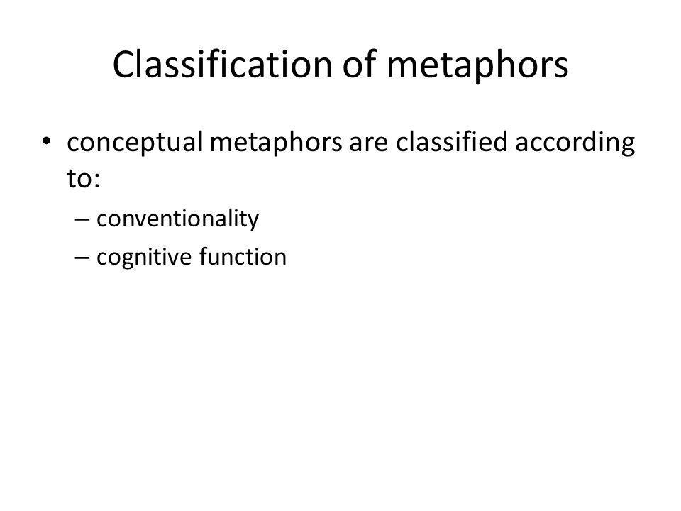 Classification of metaphors