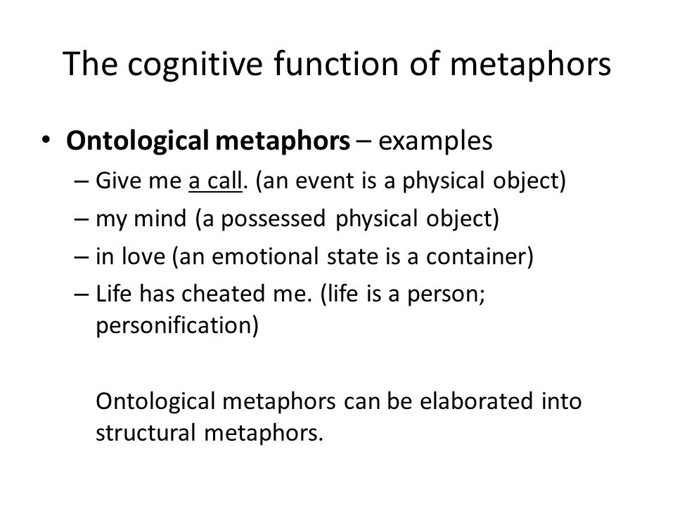 The Conceptual Metaphor Theory Ppt Video Online Download