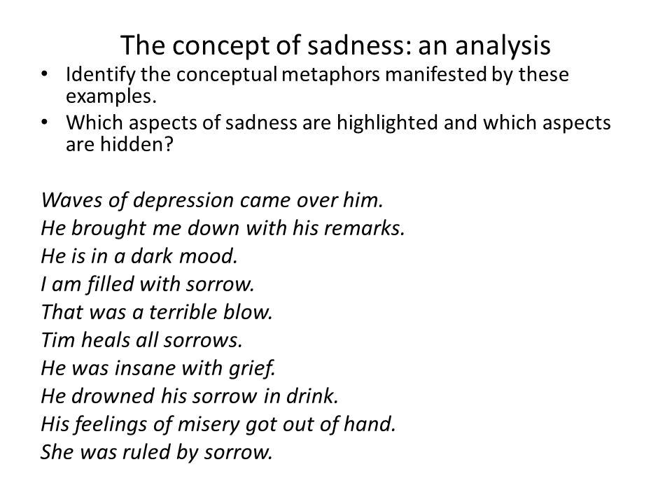 The concept of sadness: an analysis