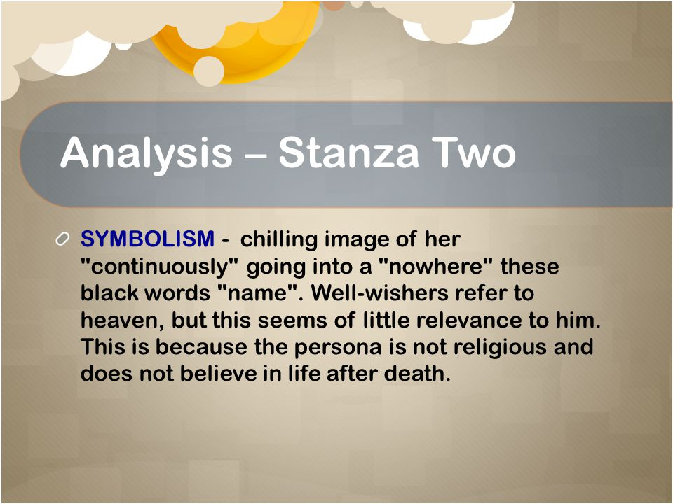 Analysis – Stanza Two