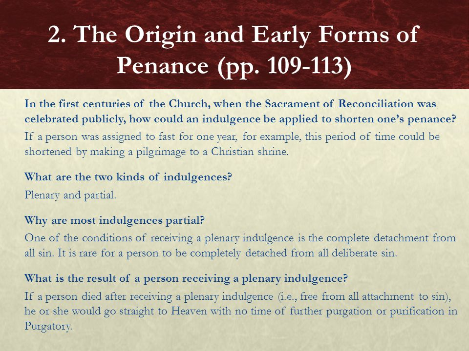 2. The Origin and Early Forms of Penance (pp. 109-113)