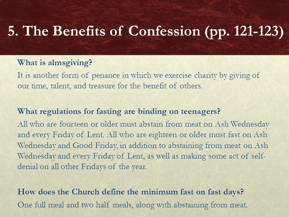 5. The Benefits of Confession (pp. 121-123)