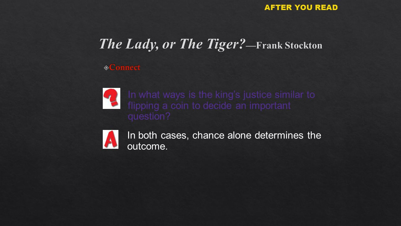 Conflict in the story the lady or the tiger by frank r stockton