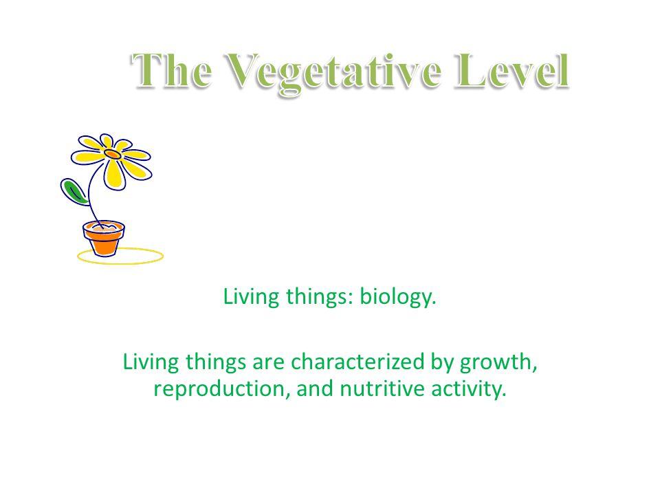 Living things: biology.