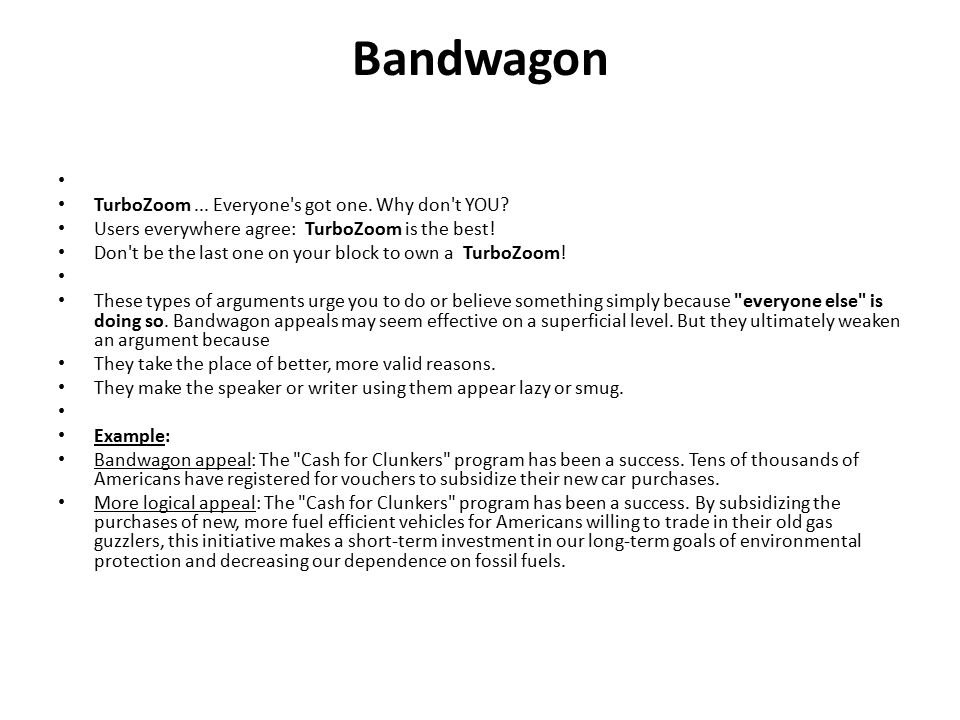 Bandwagon TurboZoom ... Everyone s got one. Why don t YOU