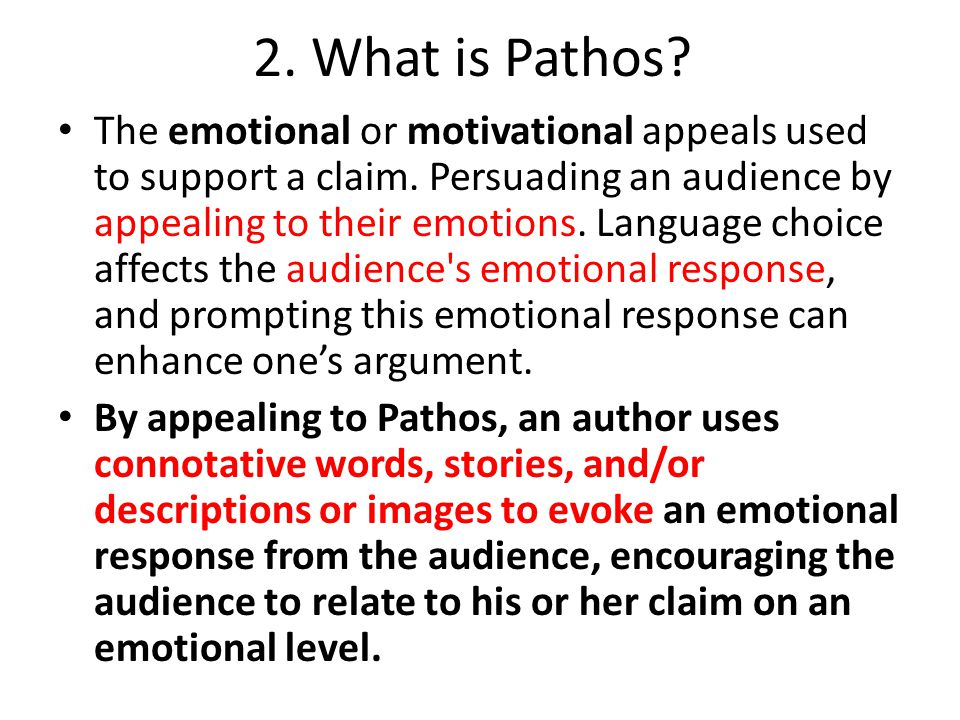 2. What is Pathos