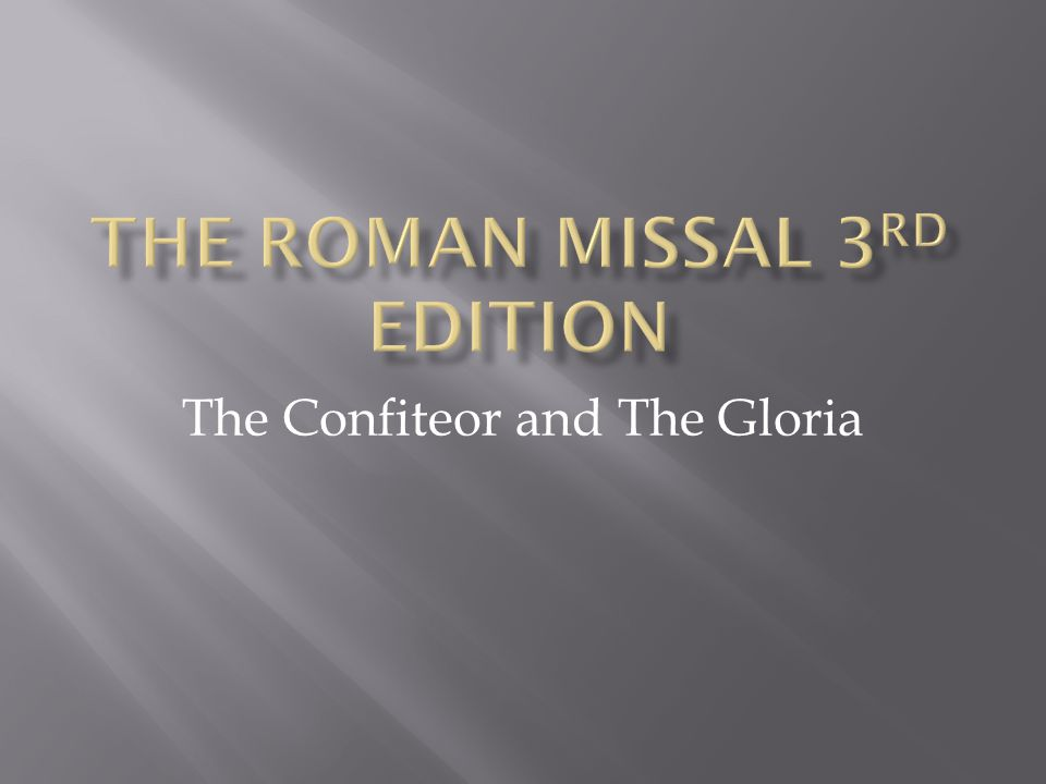 The Roman Missal 3rd Edition