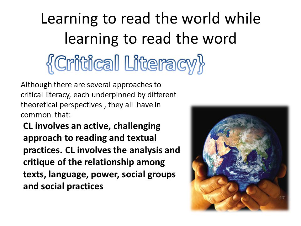 Learning to read the world while learning to read the word