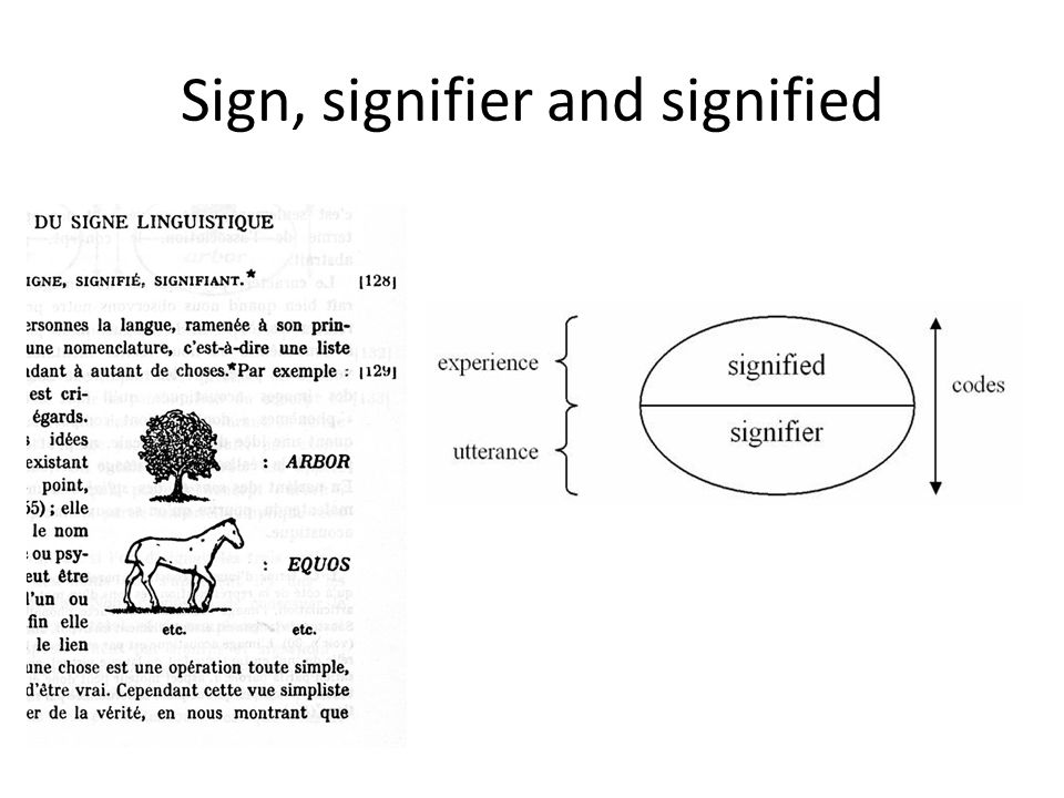 Sign, signifier and signified