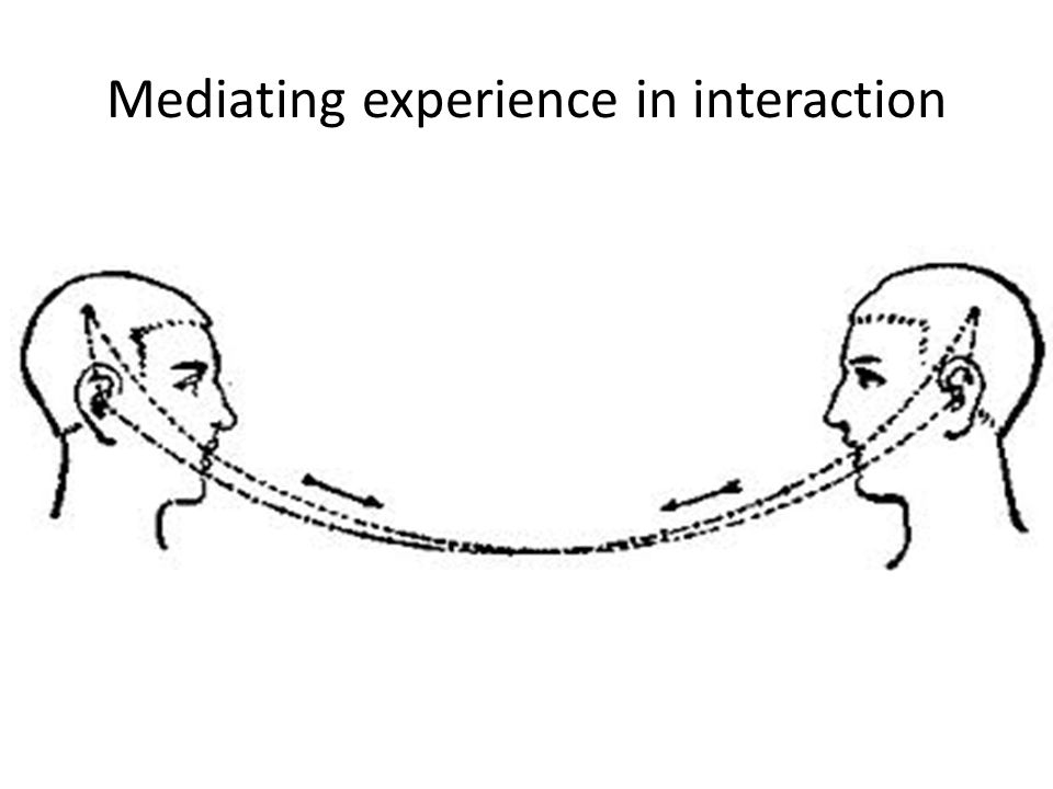 Mediating experience in interaction