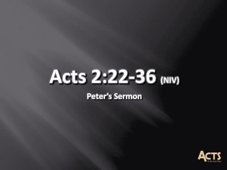 Acts 2:22-36 (NIV) Peter's Sermon