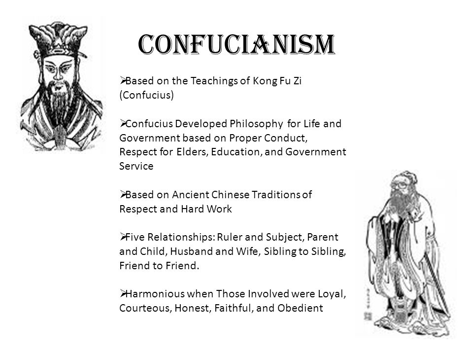 Confucianism Based on the Teachings of Kong Fu Zi (Confucius)