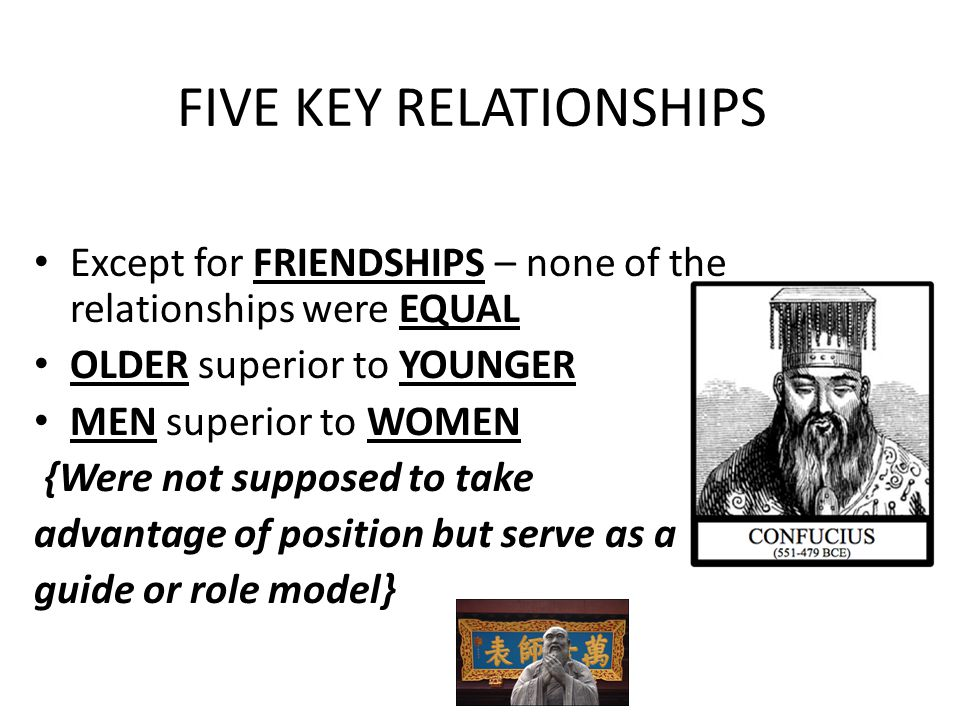 FIVE KEY RELATIONSHIPS