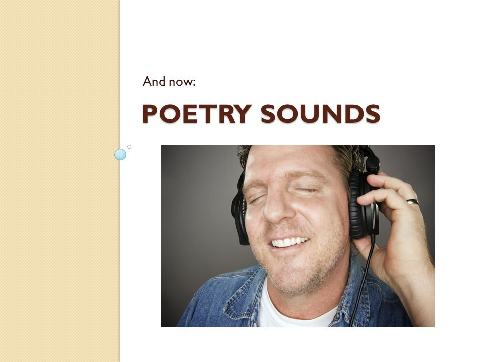 And now: Poetry Sounds