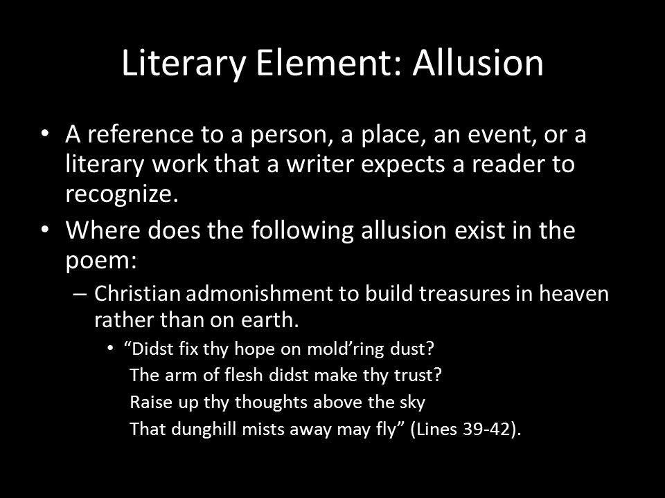 Literary Element: Allusion