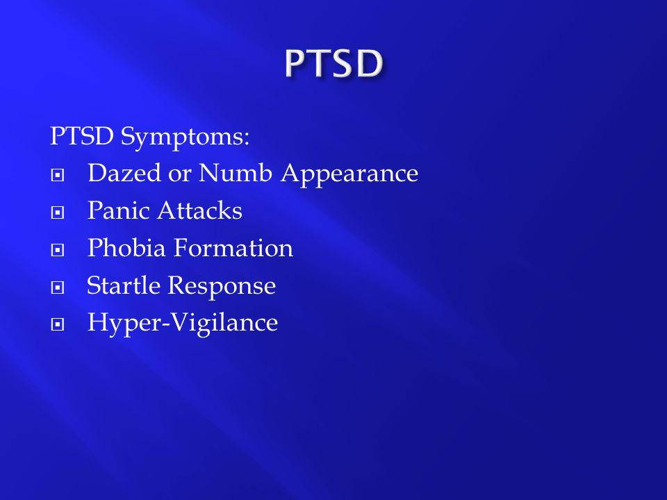 PTSD PTSD Symptoms: Dazed or Numb Appearance Panic Attacks