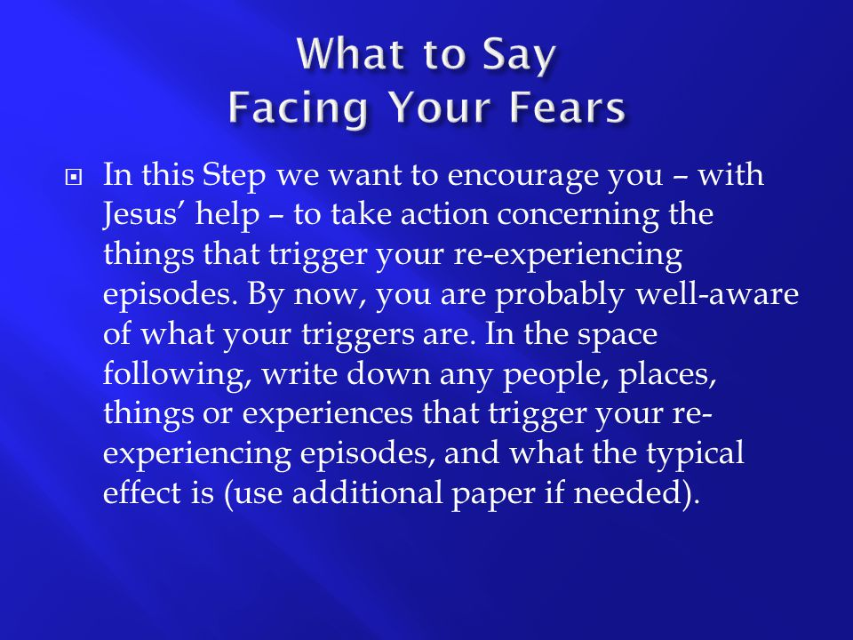 What to Say Facing Your Fears