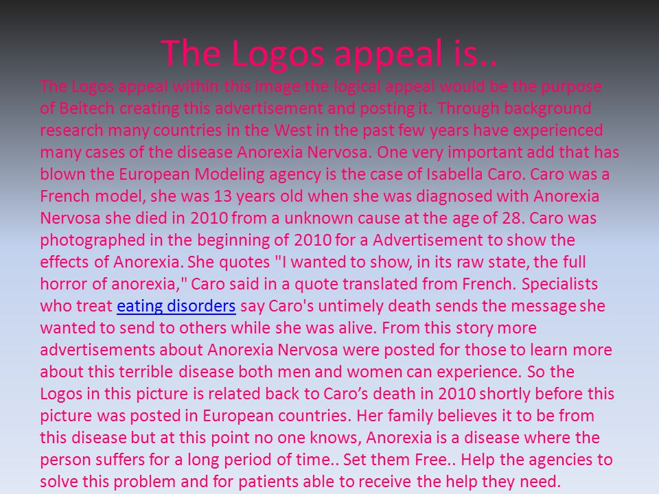 The Logos appeal is..