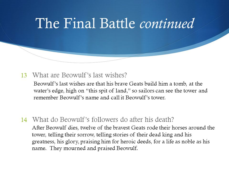 The Final Battle continued