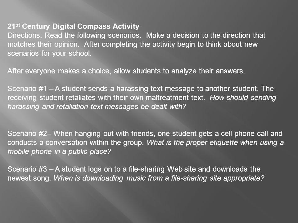 21st Century Digital Compass Activity