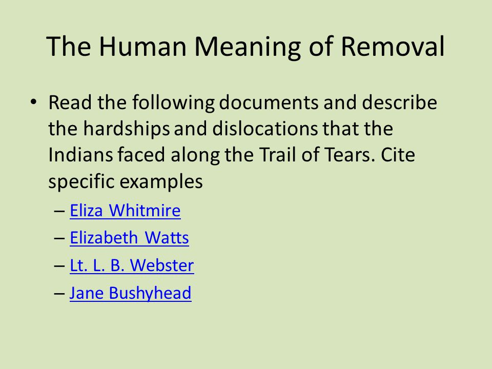 The Human Meaning of Removal