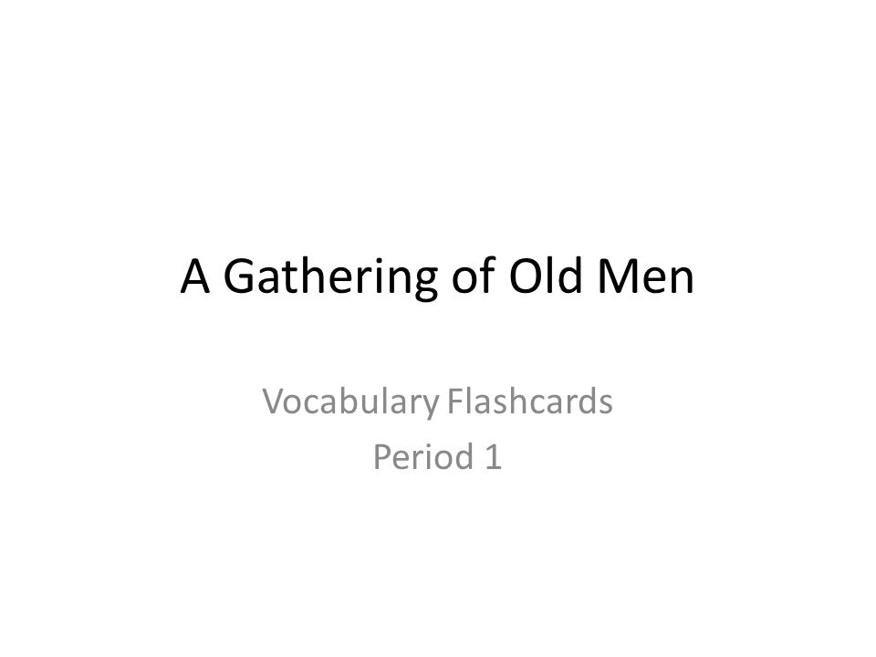 Vocabulary Flashcards Period 1