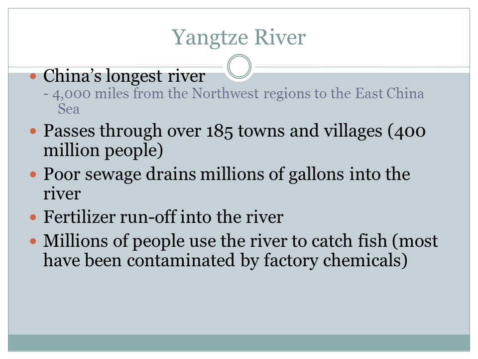 Yangtze River China's longest river