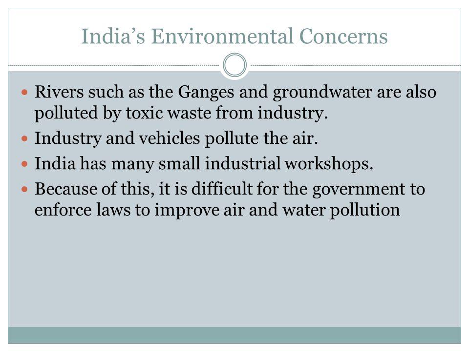 India's Environmental Concerns