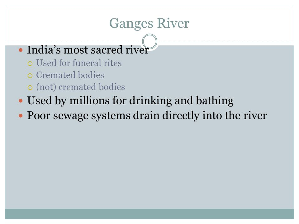 Ganges River India's most sacred river