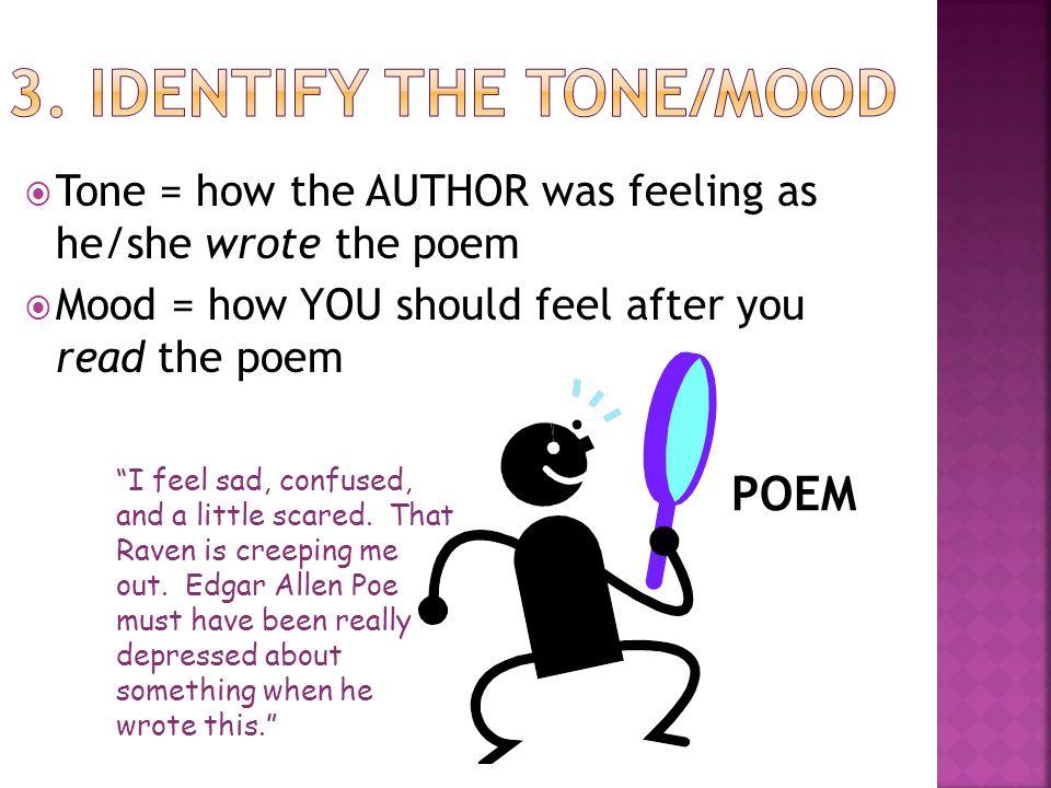 3. Identify the Tone/Mood