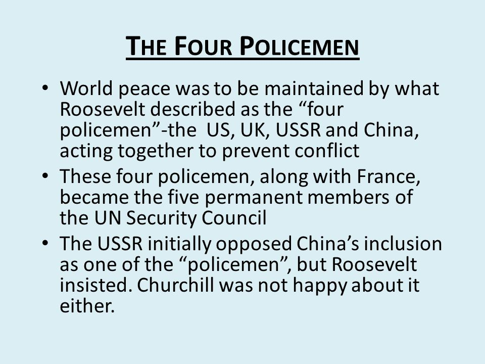 The Four Policemen