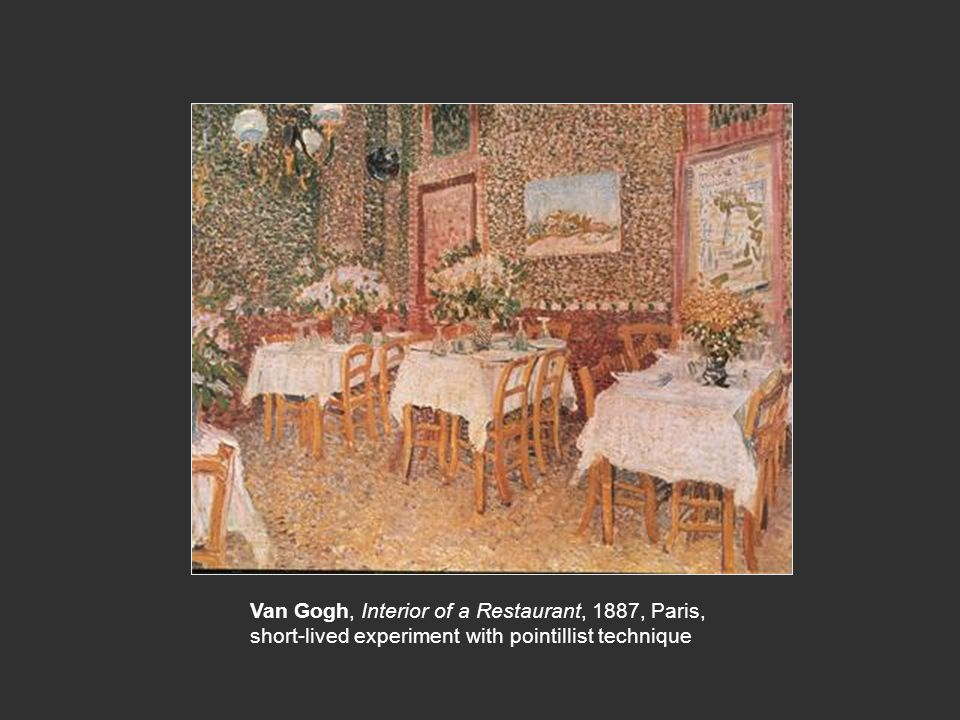 Van Gogh, Interior of a Restaurant, 1887, Paris,