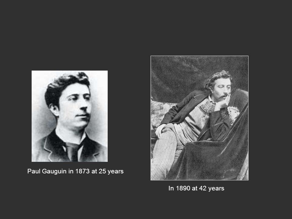 Paul Gauguin in 1873 at 25 years