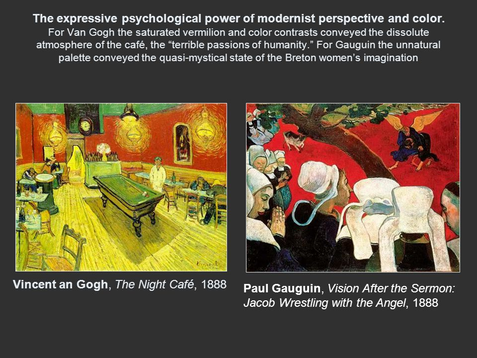 The expressive psychological power of modernist perspective and color